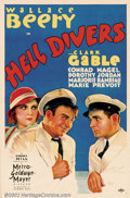 """Movie Posters:Adventure, Hell Divers (MGM, 1932). One Sheet (27"""" X 41""""). This film was theyoung Clark Gable's first starring role, which had him cas..."""