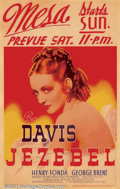 """Movie Posters:Drama, Jezebel (Warner Brothers, 1938). Window Card (14"""" X 22""""). William Wyler directed Bette Davis in this classic film which won ..."""