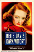 """Movie Posters:Drama, Dark Victory (Warner Brothers, 1939). One Sheet (27"""" X 41""""). This soaper has long been held as a favorite among Bette Davis ..."""