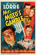 "Movie Posters:Mystery, Mr. Moto's Gamble (20th Century Fox, 1938). One Sheet (27"" X 41"").Originally scripted as a Charlie Chan feature, this the t..."