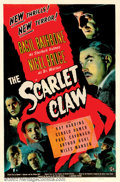 "Movie Posters:Mystery, Scarlet Claw (Universal, 1944). One Sheet (27"" X 41""). Considered by many to be the best of the Universal - Sherlock Holmes ..."