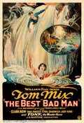 """Movie Posters:Western, Best Bad Man, The (Fox, 1925). One Sheet (27"""" X 41""""). This earlyFox western-romance unites cowboy Tom Mix, with the """"It"""" g..."""