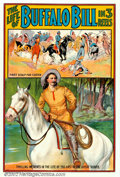 "Movie Posters:Western, Life of Buffalo Bill, The (Pawnee Bill Film Co., 1912). One Sheet(27"" X 41""). Very early silent three-reeler which starred..."