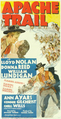 """Movie Posters:Western, Apache Trail (MGM, 1943). Three Sheet (41"""" X 81""""). Story of a lovetriangle between two brothers, played by Lloyd Nolan and..."""