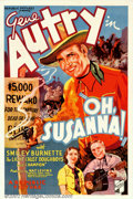 "Movie Posters:Western, Oh Susanna (Republic, 1936). One Sheet (27"" X 41""). One of GeneAutry's most beautiful, early posters. This Western was abou..."
