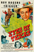 "Movie Posters:Western, Eyes of Texas (Republic, 1948). One Sheet (27"" X 41""). In this RoyRogers film, Roy's out to investigate the strange murder ..."
