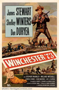 "Movie Posters:Western, Winchester '73 (Universal International R-1958). One Sheet (27"" X41""). First re-issue poster for this hard to find Western ..."