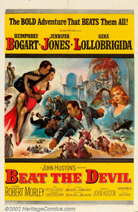 """Beat the Devil (United Artists, 1954). One Sheet (27"""" X 41""""). Director John Huston and Truman Capote created t..."""