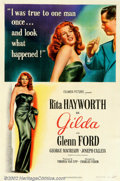 """Movie Posters:Film Noir, Gilda(Columbia, 1946). One Sheet (27"""" X 41"""") Style A. Perhaps """"the""""Rita Hayworth film with her famous """"Put the Blame on Mam..."""