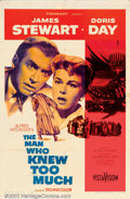 """Movie Posters:Mystery, Man Who Knew Too Much, The (Paramount, 1956). One Sheet (27"""" X 41""""). Doris Day and Jimmy Stewart star in this remake of Alfr..."""