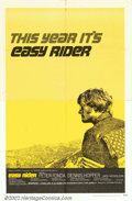 "Movie Posters:Drama, Easy Rider (Columbia, 1969). One Sheet (27"" X 41"") Style C. This film was the catalyst for the youth revolution of the Holly..."