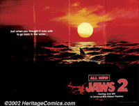 "Jaws 2 (Universal, 1978). Advance Subway (52"" X 47""). The well-known tagline ""Just When You Thought It Wa..."