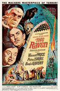 """Movie Posters:Horror, The Raven (AIP, 1963). One Sheet (27"""" X 41""""). Roger Corman directed this satirical take on the horror of Edgar Allan Poe's o..."""