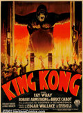 "Movie Posters:Horror, King Kong (RKO, 1933). French One Panel (47"" X 63""). Stonelithograph, art by Roland Coudon. Willis O'Brien's titlecreature..."