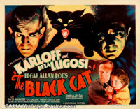 "Black Cat, The (Universal, 1934) Half sheet (22"" X 28"") Style B. This was the first teaming of Universal's mas..."