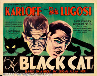 """Black Cat, The (Universal, 1934) Half Sheet (22"""" X 28"""") Style A. The poster offered here is very rare and is t..."""