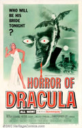 """Movie Posters:Horror, Horror of Dracula (Universal-International, 1958). One Sheet (27"""" X 41""""). Christopher Lee stars as Dracula in this horror ta..."""