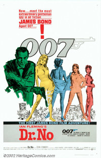 """Dr. No (United Artists, 1962). One Sheet (27"""" X 41""""). This, the first installment in the James Bond series, wo..."""