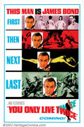"Movie Posters:Action, You Only Live Twice (United Artists, 1967). Advance (27"" X 41""). In this entry in the James Bond series, an American capsule..."