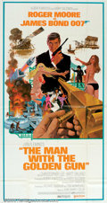 """Movie Posters:Action, Man With the Golden Gun (United Artists, 1974). Three Sheet (41"""" X 81""""). This time around, with Roger Moore as 007, Bond is ..."""
