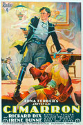 "Movie Posters:Western, Cimarron (RKO, 1931). Swedish One Sheet (26 1/4"" X 39 1/4""). ThisAcademy Award winning picture was adapted from the great E..."