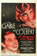 "Movie Posters:Comedy, It Happened One Night (Columbia, R-1946). One Sheet (27"" X 41"").This major Frank Capra classic was the first film ever to w..."
