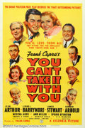 "Movie Posters:Comedy, You Can't Take It With You (Columbia, 1938). One Sheet (27"" X 41""). A Kaufman-Hart play about an eccentric household won man..."