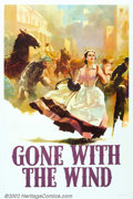 "Movie Posters:Drama, Gone With the Wind (MGM, 1939). One Sheet (27"" X 41""). MGM first released ""Gone With The Wind"" in a roadshow format in 1939,..."