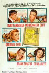 "From Here To Eternity (Columbia, 1953). One Sheet (27"" X 41""). The blockbuster movie of 1953 with an outstandi..."
