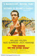 "Movie Posters:War, Bridge On The River Kwai (Columbia, 1958). One Sheet (27"" X 41"").David Lean's classic WWII drama won seven Oscars the year ..."