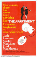 "Movie Posters:Drama, Apartment, The (United Artists, 1960). One Sheet (27' X 41""). Thisbittersweet Billy Wilder comedy featured a triad of stell..."
