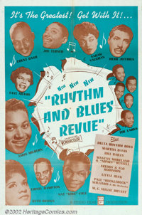 "Rhythm and Blues Revue (Studio Films, 1955). One Sheet (27"" X 41""). This all-black film was shot on stage at H..."