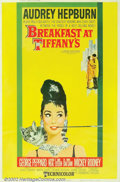 "Movie Posters:Comedy, Breakfast At Tiffany's (Paramount, 1961). (40"" X 60""). Offered hereis the very rare hard-stock poster for the Blake Edwards..."