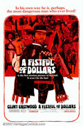 "Movie Posters:Western, A Fistful of Dollars (United Artists, 1967). One Sheet (27"" X 41"").This remake of Kurosawa's ""Yojimbo"", the virtual beginni..."