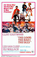 "Movie Posters:Western, Good, the Bad, and the Ugly, The (United Artists, 1968). One Sheet(27"" X 41""). The third episode of the Sergio Leone spaghe..."