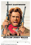 "Movie Posters:Western, Outlaw Josey Wales, The (Warner Brothers, 1976) One Sheet (27"" X41""). Very Fine + on Linen. ..."