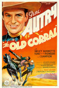 "Movie Posters:Western, Old Corral (Republic, 1936). One Sheet (27"" X 41""). Another livelyAutry venture, this film has him as the sheriff of a smal..."