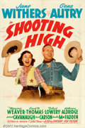 "Movie Posters:Western, Shooting High (20th Century Fox, 1940). One Sheet (27"" X 41""). GeneAutry was loaned out to Fox to star in this comedy Weste..."