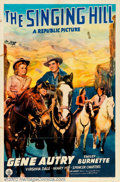 "Movie Posters:Western, Singing Hill (Republic, 1941). One Sheet (27"" X 41""). Gene Autry.Fine. ..."