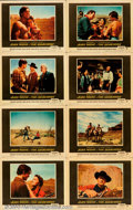 "Movie Posters:Western, Searchers, The (Warner Brothers, 1956). Lobby Card Set (11"" X 14"").Fine+. ..."
