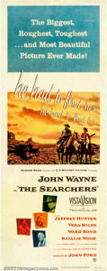 "Movie Posters:Western, Searchers, The (Warner Brothers, 1956). Insert (14"" X 36""). Thistrue classic of the American cinema many consider to be one..."
