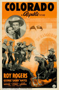 """Movie Posters:Western, Colorado (Republic, 1940). One Sheet (27"""" X 41""""). Roy Rogers in anearly outing as a Union Army Lieutenant during the Civil ..."""