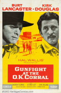 "Movie Posters:Western, Gunfight at the O.K. Corral (Paramount, 1957). One Sheet (27"" X41""). Highly fictionalized but entertaining account of the f..."
