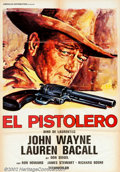 """Movie Posters:Western, Shootist, The (Paramount, 1976). Spanish (27"""" X 39""""). John Wayne'srole as an aging gunfighter dying of cancer proved to be ..."""
