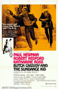 "Movie Posters:Western, Butch Cassidy and the Sundance Kid (20th Century Fox, 1969). OneSheet (27"" X 41"") Style B. The climactic moment in the semi..."