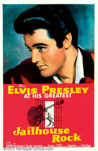 "Jailhouse Rock (MGM, 1957). One Sheet (27"" X 41""). The quintessential Elvis poster from the quintessential Elv..."