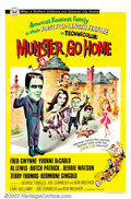 "Movie Posters:Comedy, Munster, Go Home (Universal, 1966). One Sheet (27"" X 41""). In themid-sixties ""The Munsters"" were a huge television hit for ..."