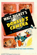 "Movie Posters:Animated, Donald's Camera (RKO, 1941). One Sheet (27"" X 41""). Early DonaldDuck poster from the cartoon which has Donald attempting wi..."