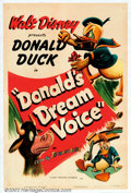 "Movie Posters:Animated, Donald's Dream Voice (RKO, 1948). One Sheet (27"" X 41""). In this,one of the more creative entries in the Donald Duck series..."