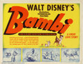 "Movie Posters:Animated, Bambi (RKO, 1942). Title Lobby Card (11"" X 14""). Disney producedthis famous and popular animated feature during the second ..."